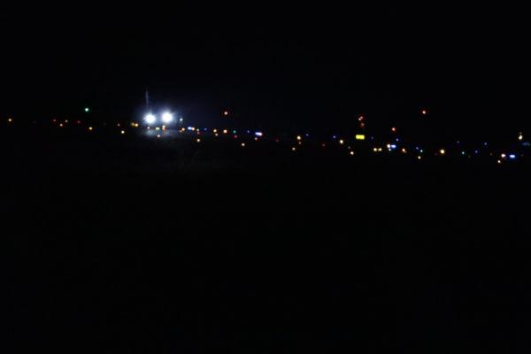 空港南第二公園着陸